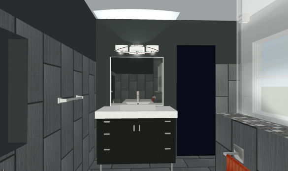 Custom Vanity Design with 3D Rendering