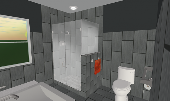 Contemporary Bathroom 3d Design