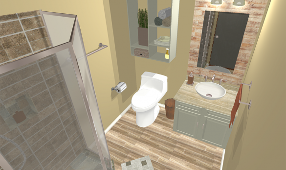 bathroom design 3d rendering